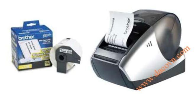 Máy in nhãn mã vạch, máy in mã vạch Q-Barcode tem nhãn giấy Brother QL-570