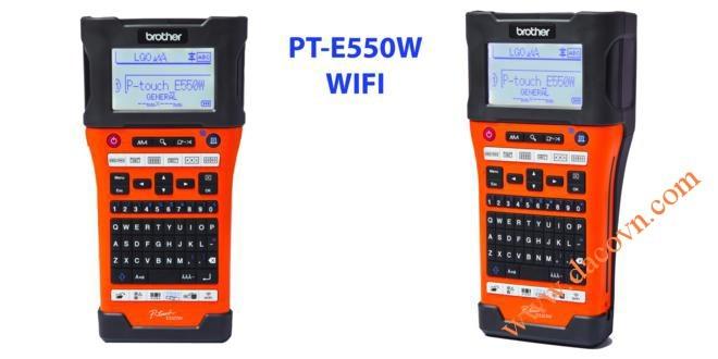 Máy in tem nhãn mã vạch cầm tay PT-E550W kết nối máy tính và wifi Brother