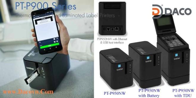 Máy In Nhãn Mã Vạch Đa Lớp Brother PT-P950NW, Kết nối mạng LAN, Mạng Wifi