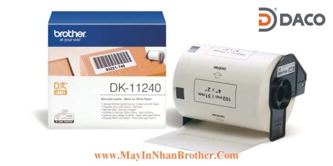 DK-11240 Nhãn giấy Brother DK11240, 102x51mm, 600 miếng, Chữ Đen Nền Trắng
