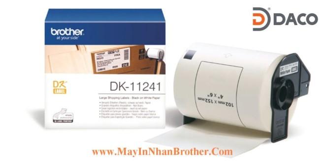 DK-11241 Nhãn giấy Brother DK11241, 102x52mm, 200 miếng, Chữ Đen Nền Trắng