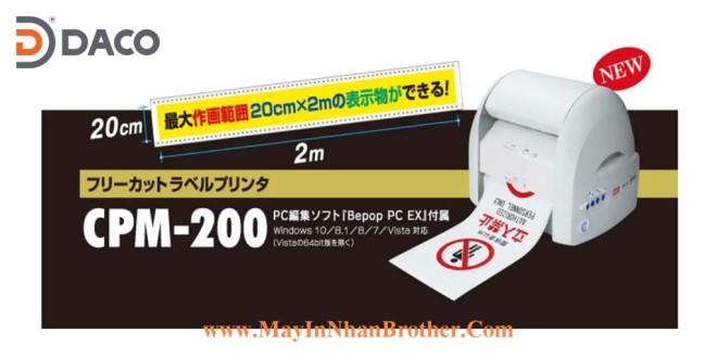 CPM-200 Máy in nhãn MAX Bepop CPM-200, Nhãn in tối đa 200*2000 mm