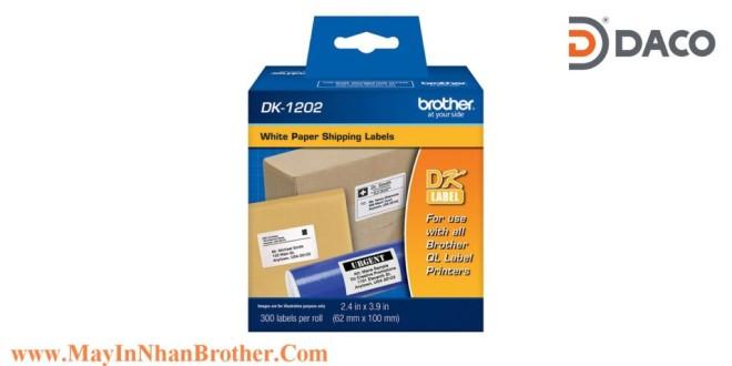 DK-1202 Nhãn giấy Brother DK1202 Nhãn Địa Chỉ  62mm x 100mm, 300 miếng, Chữ Đen, Nền Trắng