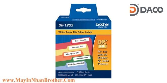 DK-1203 Nhãn giấy Brother DK1203 Nhãn Địa Chỉ  17mm x 87mm, 300 miếng, Chữ Đen, Nền Trắng