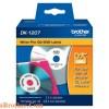 DK-1207 Nhãn giấy Brother DK1207 Nhãn CD/DVD CDRom 58mm, 100 miếng, Chữ Đen, Nền Trắng