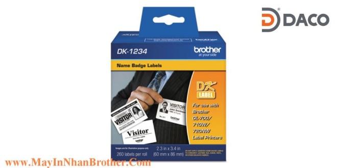 DK-1234 Nhãn giấy Brother DK1234 Nhãn Địa Chỉ  80mm x 86mm, 260 miếng, Chữ Đen, Nền Trắng