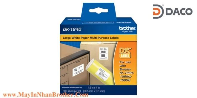 DK-1240 Nhãn giấy Brother DK1240 Nhãn Địa Chỉ  50mm x 100mm, 600 miếng, Chữ Đen, Nền Trắng