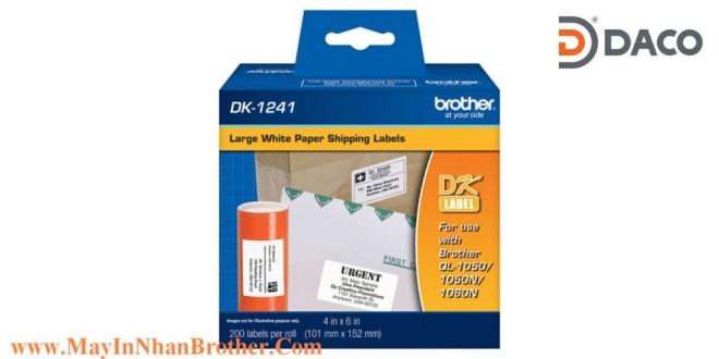 DK-1241 Nhãn giấy Brother DK1241 Nhãn Địa Chỉ  100mm x 152mm, 200 miếng, Chữ Đen, Nền Trắng