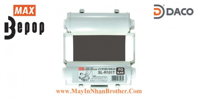 SL-R101T Băng mực in Bepop CPM-100, Màu Đen, 110mm x 55m
