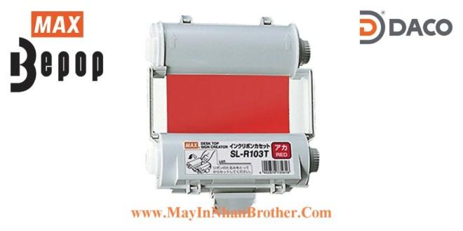 SL-R103T Băng mực in Bepop CPM100, Màu Đỏ, 110mm x 55m