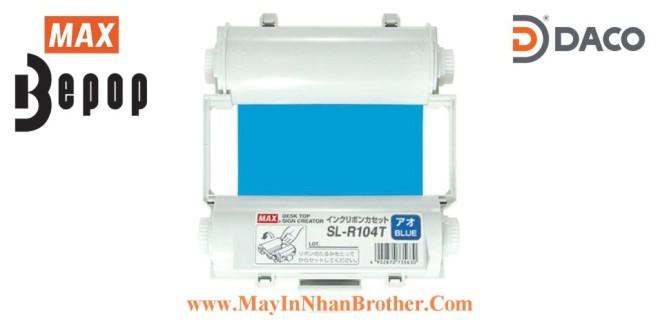SL-R104T Băng mực in Bepop CPM100, Màu Xanh-Blue, 110mm x 55m