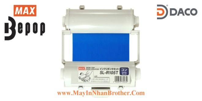 SL-R105T Băng mực in Bepop CPM100, Màu Xanh Blue Đậm, 110mm x 55m