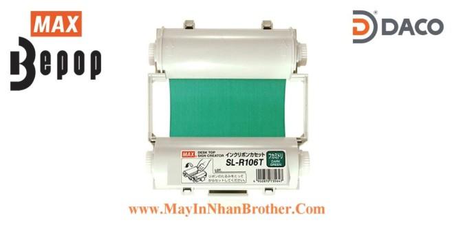 SL-R106T Băng mực in Bepop CPM100, Màu Xanh Green Đậm, 110mm x 55m