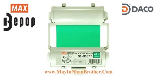 SL-R107T Băng mực in Bepop CPM100, Màu Xanh-Green, 110mm x 55m