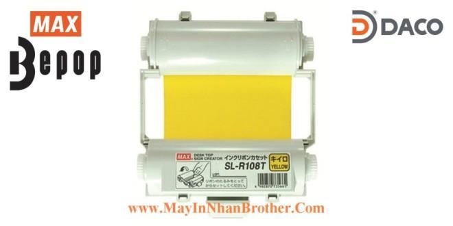 SL-R108T Băng mực in Bepop CPM100, Màu Vàng, 110mm x 55m