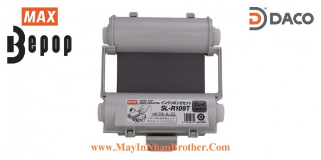 SL-R109T Băng mực in Bepop CPM100, Màu Xám, 110mm x 55m