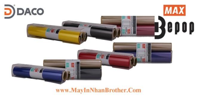 SL-TR104T Cuộn băng mực in Bepop CPM100, Màu Xanh-Blue, 110mm x 55m