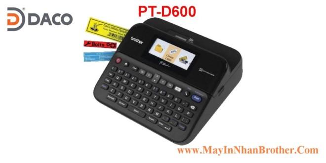 PT-D600 Máy in nhãn đa lớp Brother tới 24mm, Dùng Pin, Bàn phím