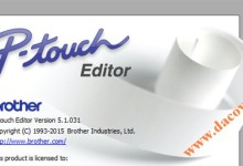 Phan mem thiet ke nhan in Brother P-Touch Editor