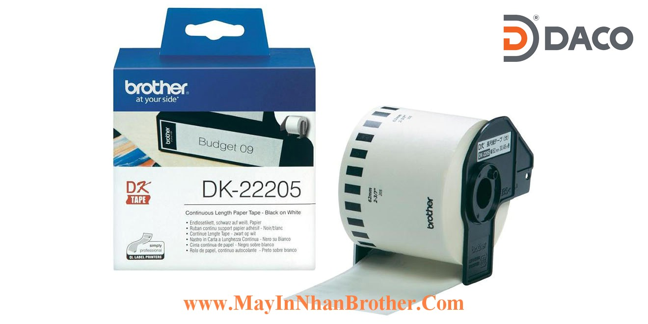 Nhan giay Brother DK-22205_62mm