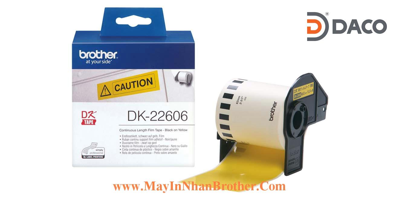 Nhan giay Brother DK-22606_62mm Vang